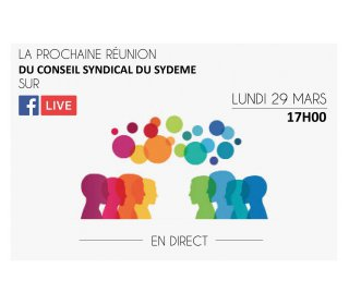DIFFUSION EN DIRECT DU CONSEIL SYNDICAL DU SYDEME
